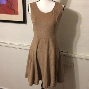 Halston Heritage Swede Taupe Dress